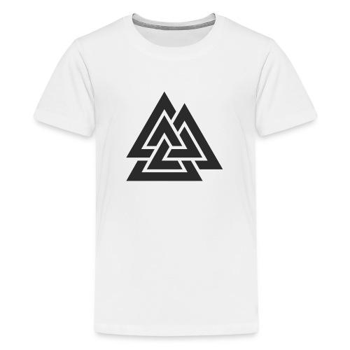Valknut. Símbolo vikingo - Camiseta premium adolescente