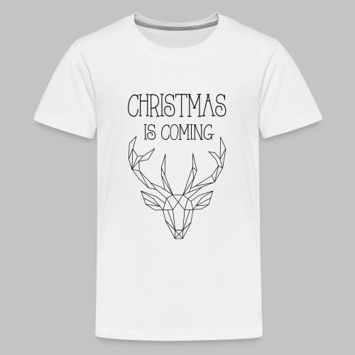 Deer Christmas - Teenage Premium T-Shirt