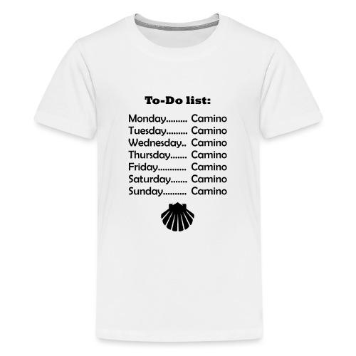 To-do list: Camino - Teenager premium T-shirt