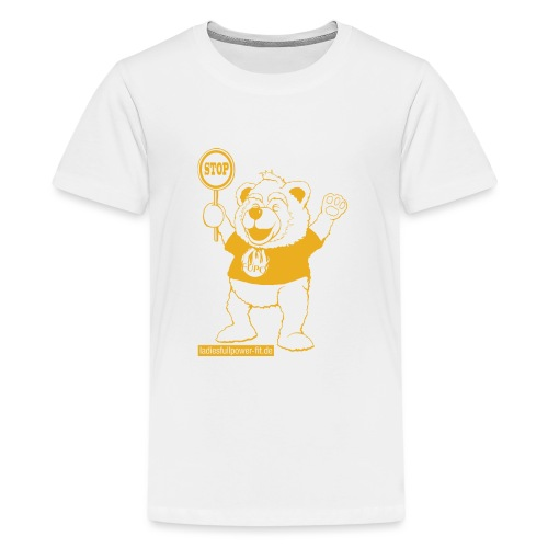 FUPO der Bär. Druckfarbe Orange - Teenager Premium T-Shirt
