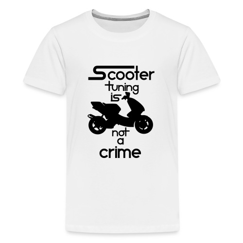 Scooter tuning is not a crime! Vol. III HQ - Teenager Premium T-Shirt