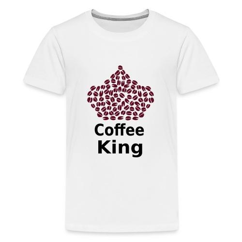 Coffee King T-shirt - Love Coffee T-shirt - Teenage Premium T-Shirt