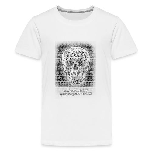 skull black trans 2 jpg - Teenager Premium T-shirt