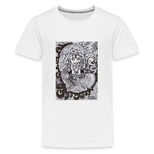 Psychedelic Ganesha - Maglietta Premium per ragazzi