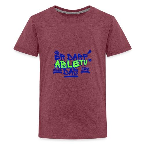 AbleTV Grafitti Logo Marken Shirt (Er Darf Das) - Teenager Premium T-Shirt