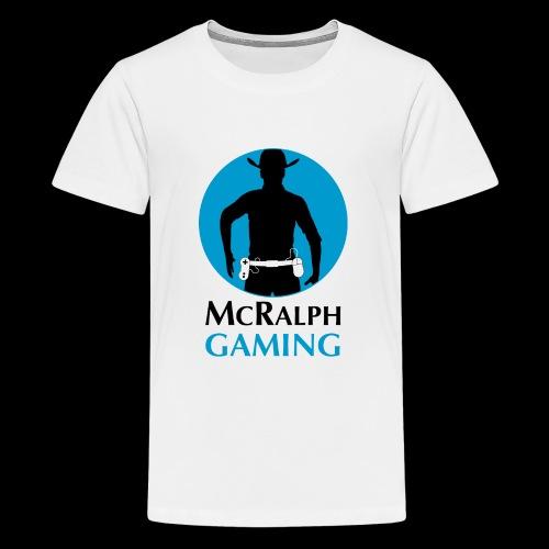 McRalph Gaming Logo 2 Bl - Teenager Premium T-Shirt
