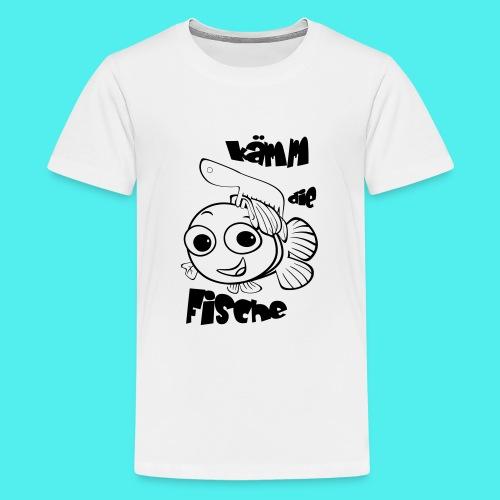 kämm die fische - Teenager Premium T-Shirt