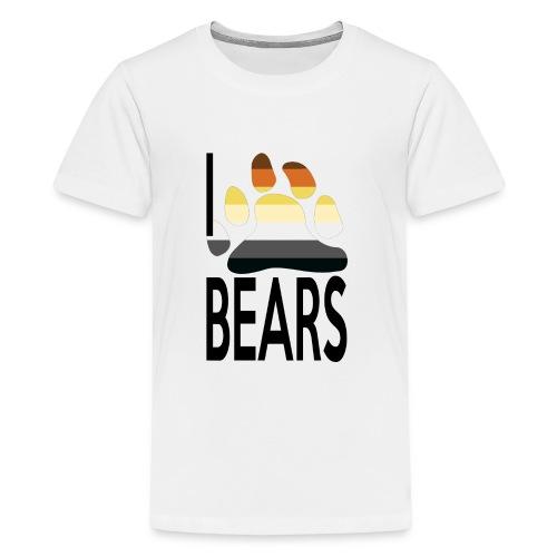 I love bears - T-shirt Premium Ado