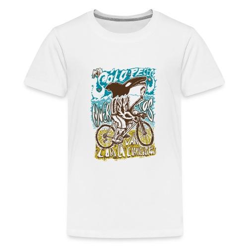 Solo peces muertos van con la corriente - Camiseta premium adolescente