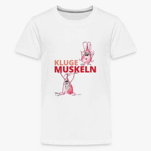 Kluge Muskeln - Teenager Premium T-Shirt