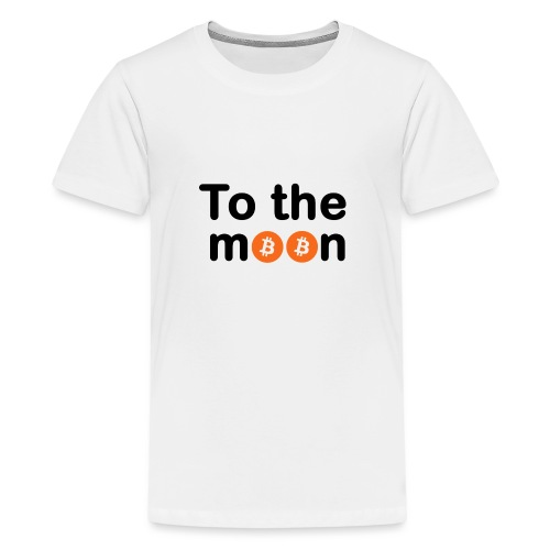 To the moon orange - T-shirt Premium Ado