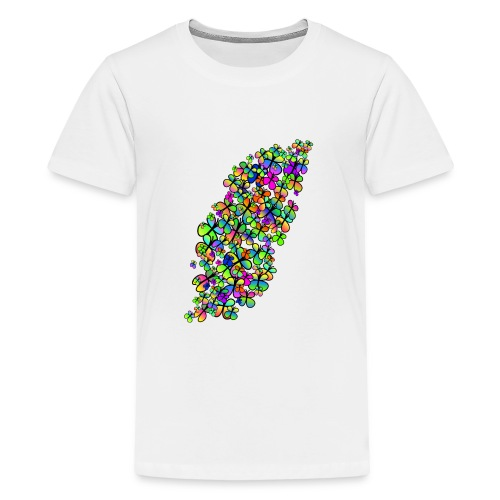 Colorful butterflies - T-shirt Premium Ado