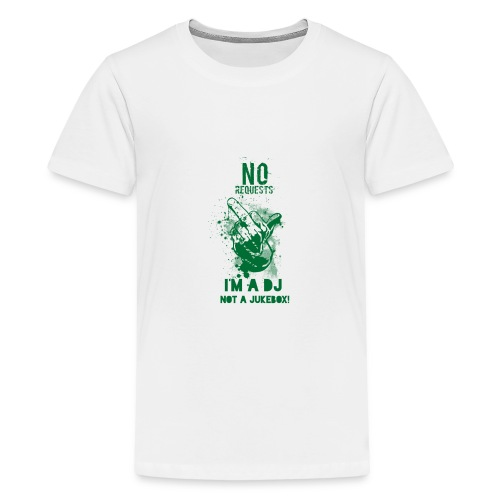 DJ no JukeBox GREEN - Teenage Premium T-Shirt
