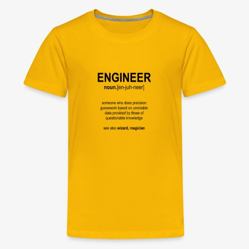 Engineer Def. 1 (Black) - T-shirt Premium Ado