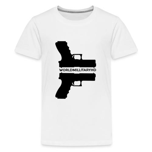 WorldMilitaryHD Glock design (black) - Teenager Premium T-shirt