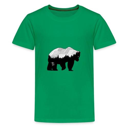 Geometric Mountain Bear - Maglietta Premium per ragazzi