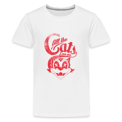 All the cats love me - Teenager Premium T-Shirt