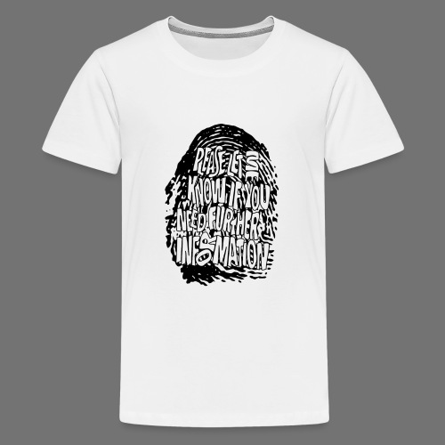 Fingerprint DNA (black) - Teenager Premium T-Shirt