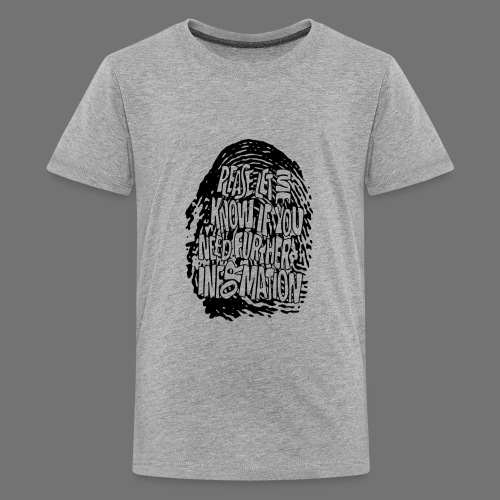 Fingerprint DNA (black) - Teenage Premium T-Shirt