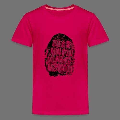 Fingerprint DNA (black) - Teenager Premium T-Shirt