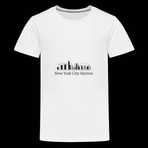 ny skyline - Teenage Premium T-Shirt