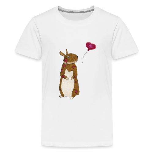 Valentine bunny - Teenage Premium T-Shirt