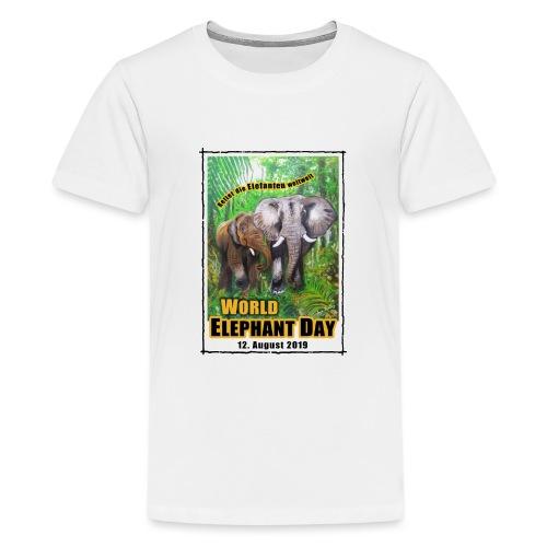 Welt-Elefanten-Tag 12. August 2019 - Teenager Premium T-Shirt
