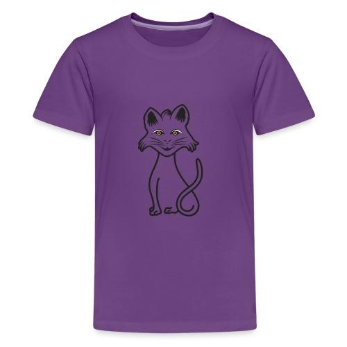 gatto nero - Maglietta Premium per ragazzi