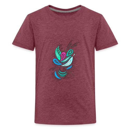 astratto foglie multicolore - Maglietta Premium per ragazzi