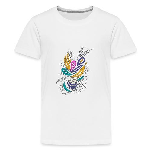 foglie geometriche multicolore - Maglietta Premium per ragazzi