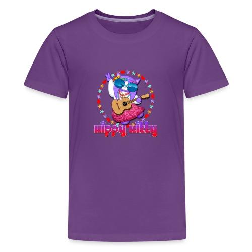 Hippy Kitty - Maglietta Premium per ragazzi
