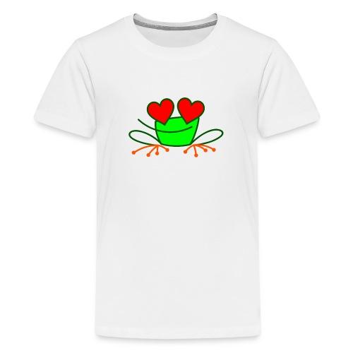 Frog in Love - Teenage Premium T-Shirt