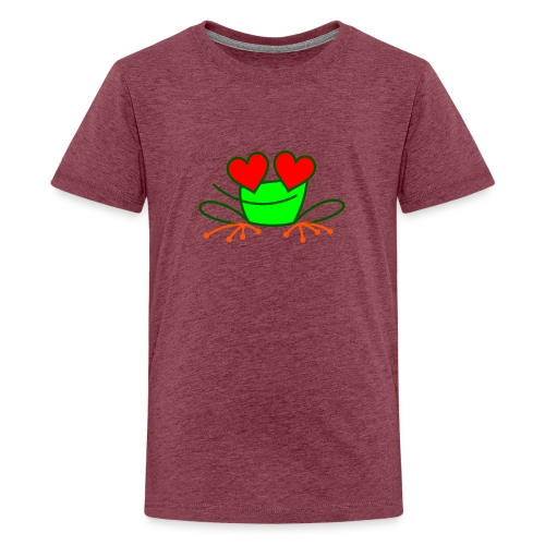 Frog in Love - Teenage Premium T-Shirt