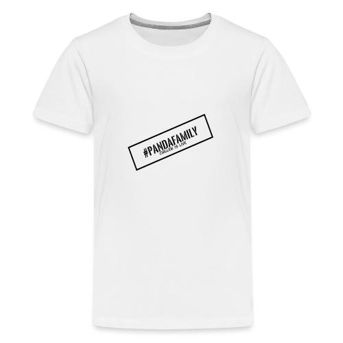 #PandaFamily [Balken] - Teenager Premium T-Shirt