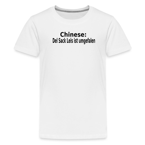 Sack Reis umgefallen - Teenager Premium T-Shirt