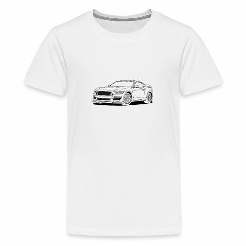 Cool Car White - Teenage Premium T-Shirt