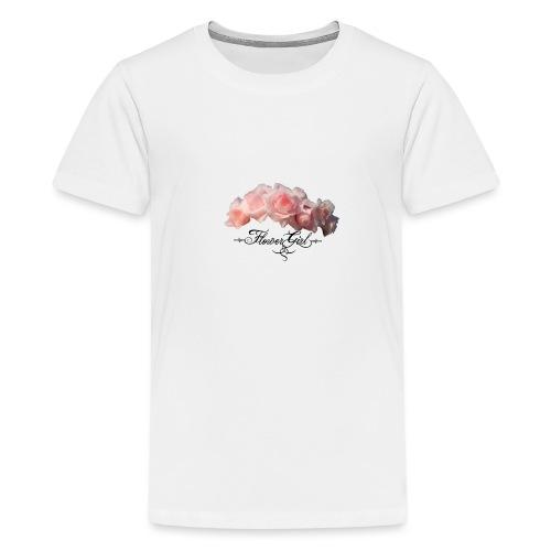 flower girl - Teenager premium T-shirt