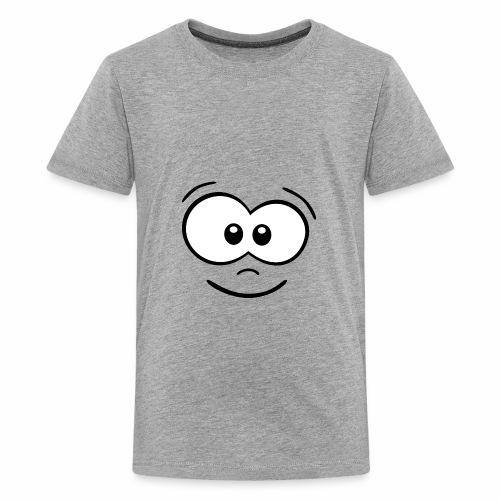 Gesicht fröhlich - Teenager Premium T-Shirt