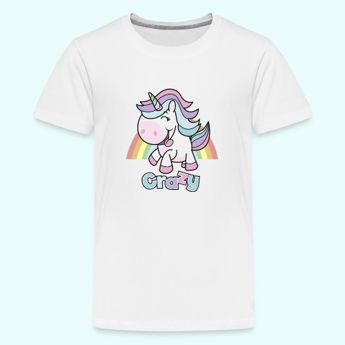 Crazy Unicorn by myLilimals - Teenager Premium T-Shirt