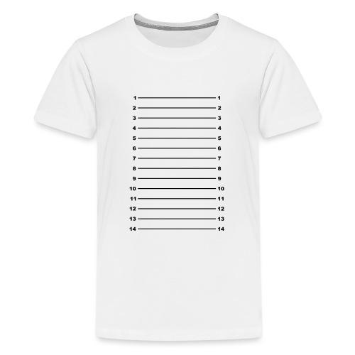Length Check T-Shirt Plain - Teenage Premium T-Shirt