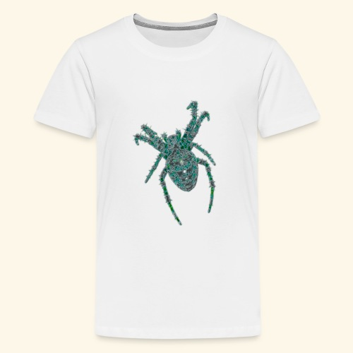 Spider Brooch Digital Art - Teenage Premium T-Shirt