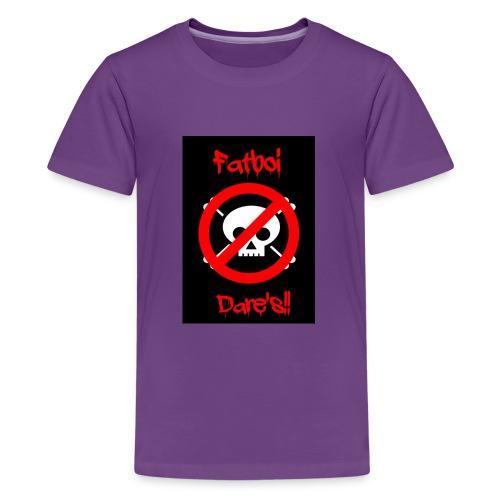 Fatboi Dares's logo - Teenage Premium T-Shirt