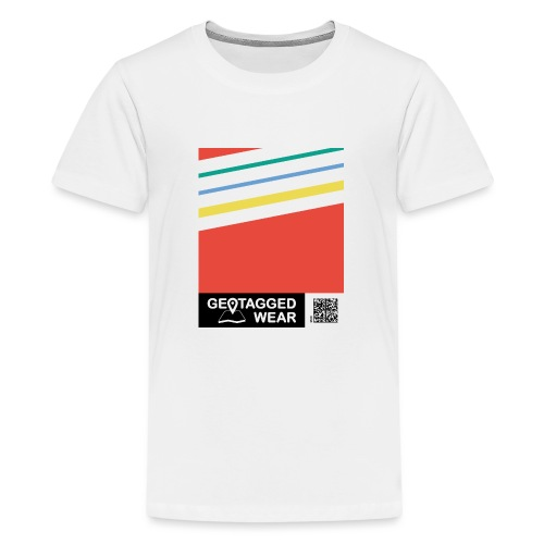 Unisex Stripes Pantone Colored - Teenager Premium T-Shirt