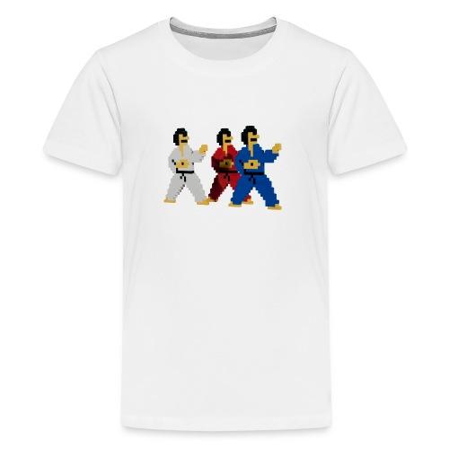 8 bit trip ninjas 1 - Teenage Premium T-Shirt