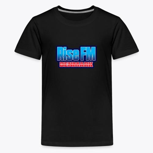 Rise FM Denmark Text Only Logo - Teenage Premium T-Shirt