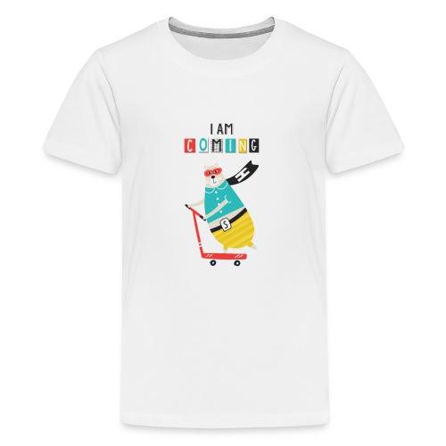 super héro ours sur patinette - T-shirt Premium Ado