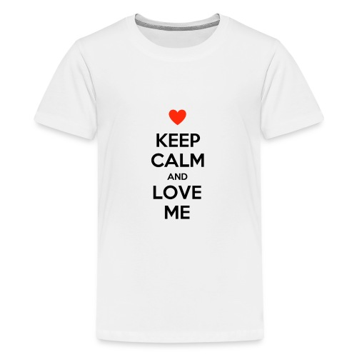 Keep calm and love me - Maglietta Premium per ragazzi