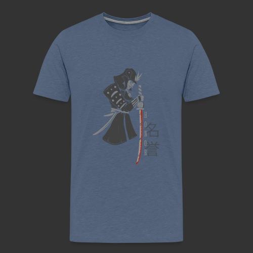 Samurai Digital Print - Teenage Premium T-Shirt