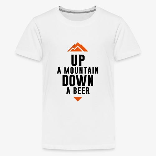 UP Mountain Down Beer - T-shirt Premium Ado