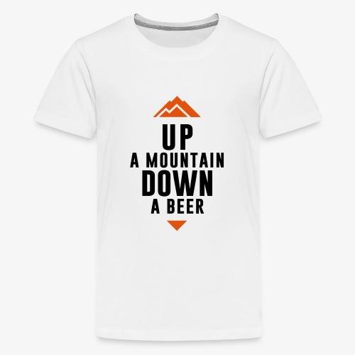 UP Mountain Down Beer - T-shirt Premium Ado